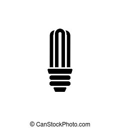 Energy Saving Bulb Flat Vector Icon - Energy Saving Bulb....