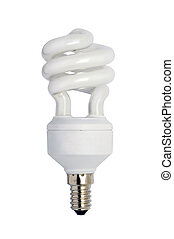 Energy saving bulb. Isolated image.