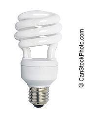 Energy saving bulb. Isolated image. - Energy saving bulb. ...