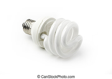 energy saving bulb isolated on white background