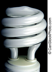 Energy Saving Bulb - Close up of an energy saving light bulb...