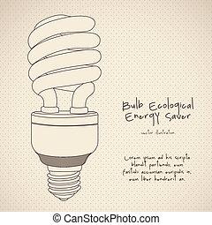 energy saving - Illustration of energy saving bulbs, vector...