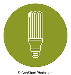 Energy saving fluorescent light bulb icon