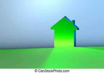 Energy Saving House - 3D Illustration of Energy House...