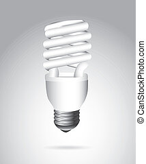 energy saving - electric bulb over gray background, energy...