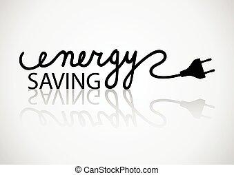 Energy Saving - Typography of energy saving
