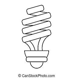 energy saving lamp light bulb pictograph