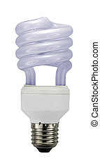 Energy saving lamp on white background.