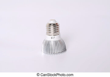 Energy saving LED light bulb isolated on white