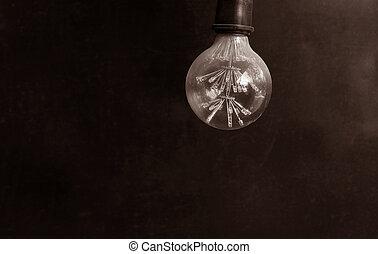 Energy saving LED light bulb on a dark background