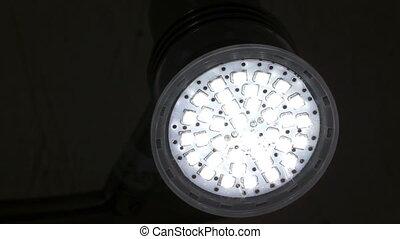Energy Saving LED Light Flashing - An energy saving,...