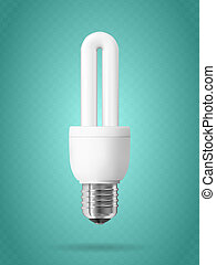 Energy saving light bulb. - Energy saving light bulb on...