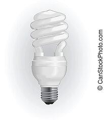Energy saving light bulb. Vector illustration EPS 8.
