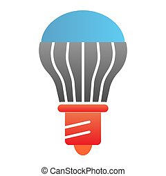 Energy saving light bulb flat icon. Energy efficient lamp color icons in trendy flat style. Electricity saving lamp gradient style design, designed for web and app. Eps 10.