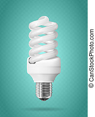 Energy saving light bulb.
