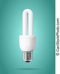 Energy saving light bulb. - Energy saving light bulb on...