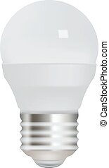 Energy saving light bulb on white background.