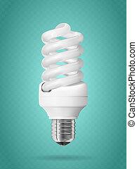 Energy saving light bulb.