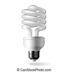 Energy saving light bulb - Vector illustration of an...