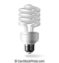 Energy saving light bulb - Vector illustration of an...