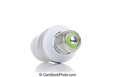 Energy saving light bulb with green line