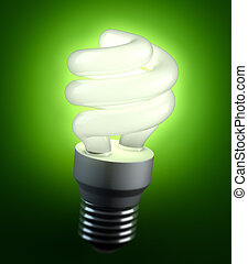 Energy saving lightbulb - An energy saving lightbulb...