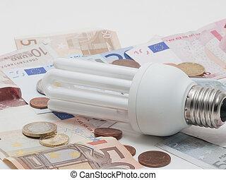 Energy saving - Simbolic electrical energy saving