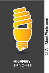 energy saving over gray background. vector illustration