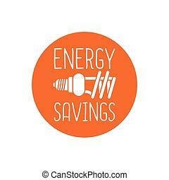 Energy savings logo design
