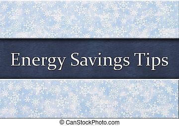 Energy Savings Tips message
