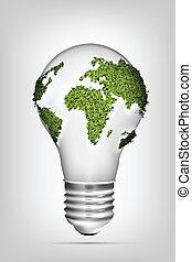 energy., schoonmaken, concept
