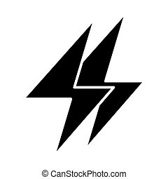 Energy solid icon. Electricity illustration isolated on white. Lightning bolt glyph style design, designed for web and app. Eps 10.