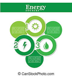 energy source over white background vector illustration