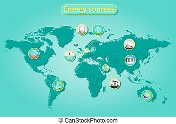 energy sources infographics
