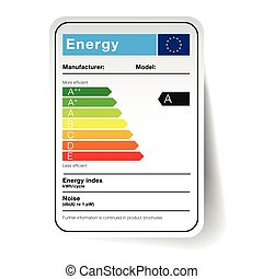 energy sticker - classification in the form of a sticker