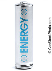 Energy - A battery. Energy supply equipment. Isolated on...