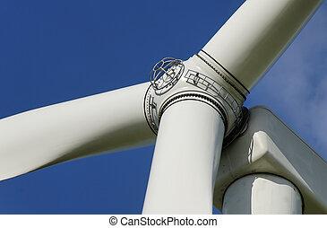 energy - zoom of a wind turbine