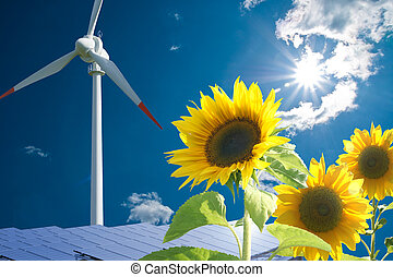 Energy - Solar and wind energy for clean environment