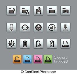 Energy & Storage Icons -- Satinbox
