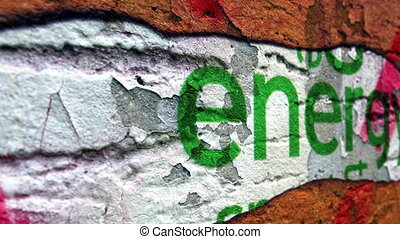 Energy text on grunge background