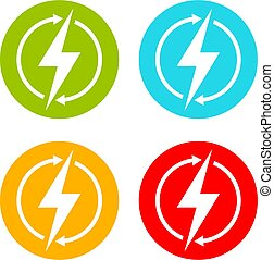 Energy vector logo isolated on white background