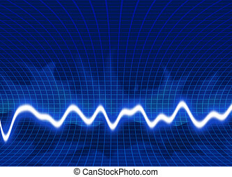 Energy waves - Green background
