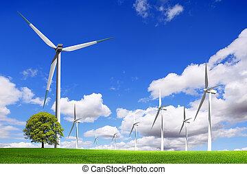 Energy wind turbines