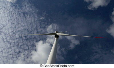 energy wind turbines sky with cloud