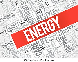 ENERGY word cloud background