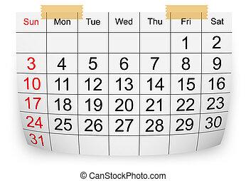 enero, calendario, 2010