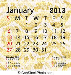 enero, serpiente albino, piel, calendario, 2013