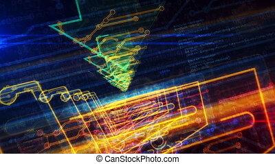 enetry, символ, киберпространство, тележка, футуристический,...