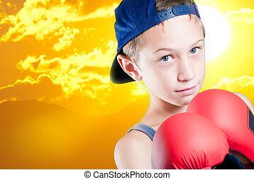 enfant, combats, pour, a, mieux, avenir