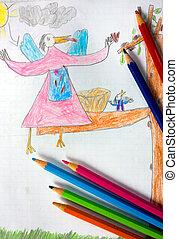 enfant, dessins